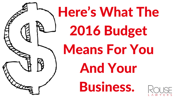 Here's What The 2016 Budget Means For You And Your Business.
