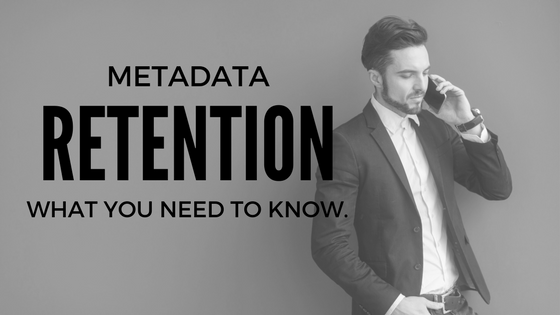 Metadata retention law
