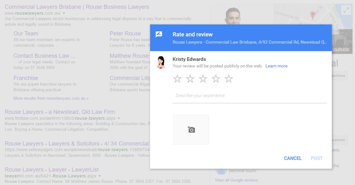 google + review